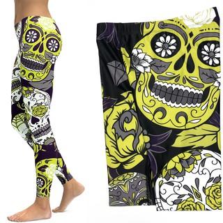 b18ee7f8f34dc LI-FI Skull Leggings Yoga Pants Women Sports Pants Fitness Running Sexy  Push Up Gym Wear Elastic   Shopee Indonesia