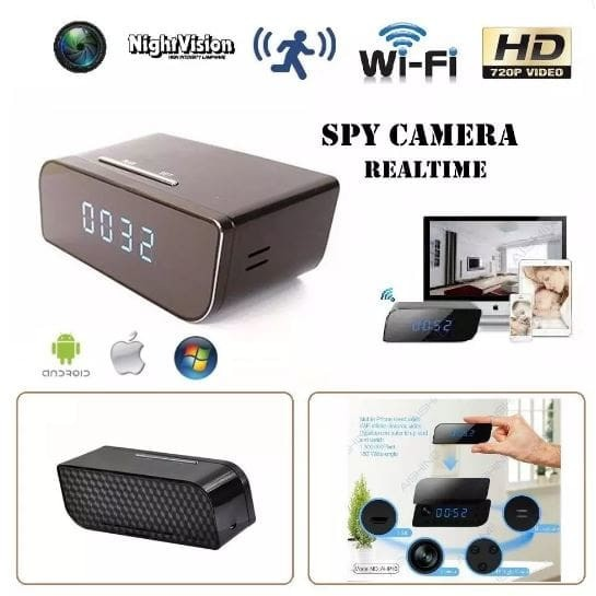 Mini WiFi P2P Hidden Spy Cam IP Wireless Camera 1280X720 Alarm Clock  TERLARIS  f7841b0026