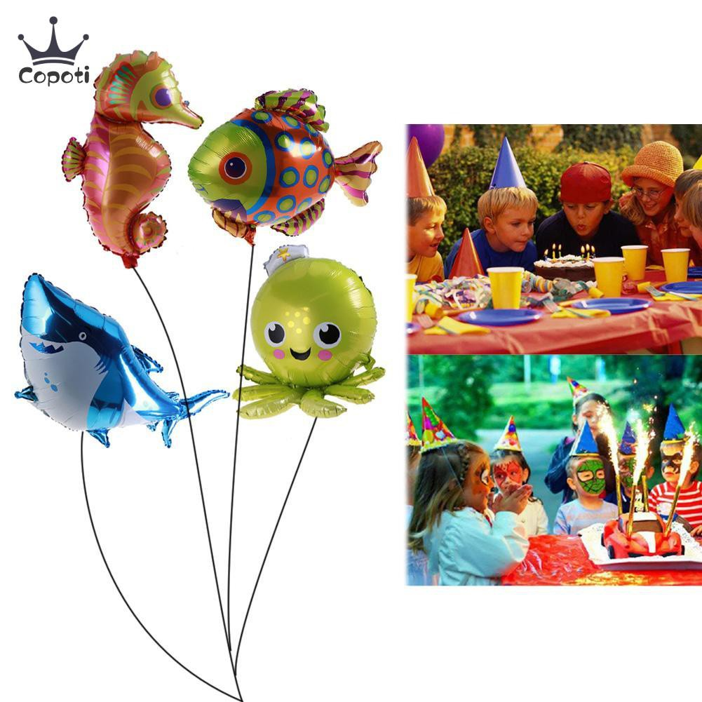 Aluminium Foil Balloon Tropical Fish Helium Balloons Party Decor Kids Toys LP