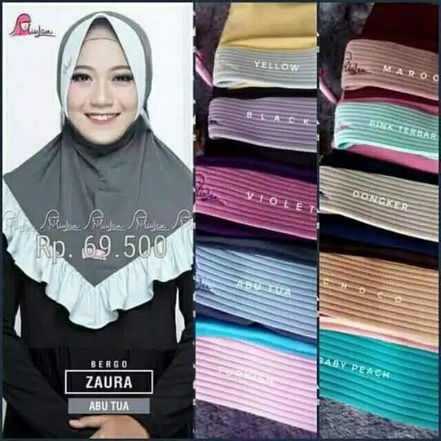 Hijab Dewasa Zaura Miulan Hijab Bergo Dewasa Zaura Miulan Shopee Indonesia