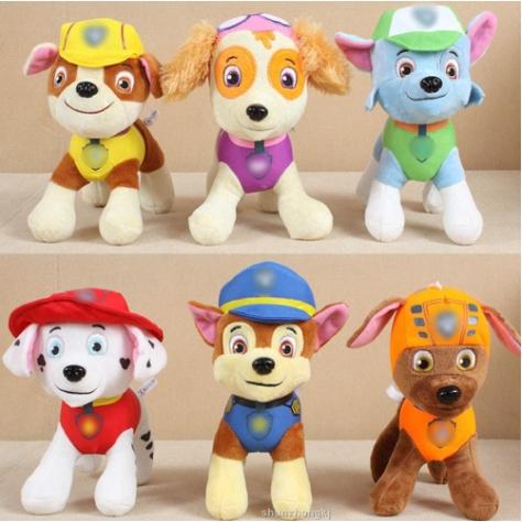 paw patrol puppy dog plush doll stuffed toys cartoon baby kids | shopee indonesia