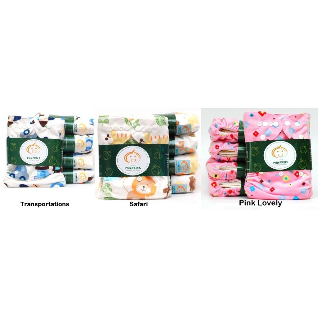 Pumpkins Minky Shopee Indonesia Clodi Minikinizz Izzy Eco Cloth Diaper Popok Kain Grosir  Motif 6