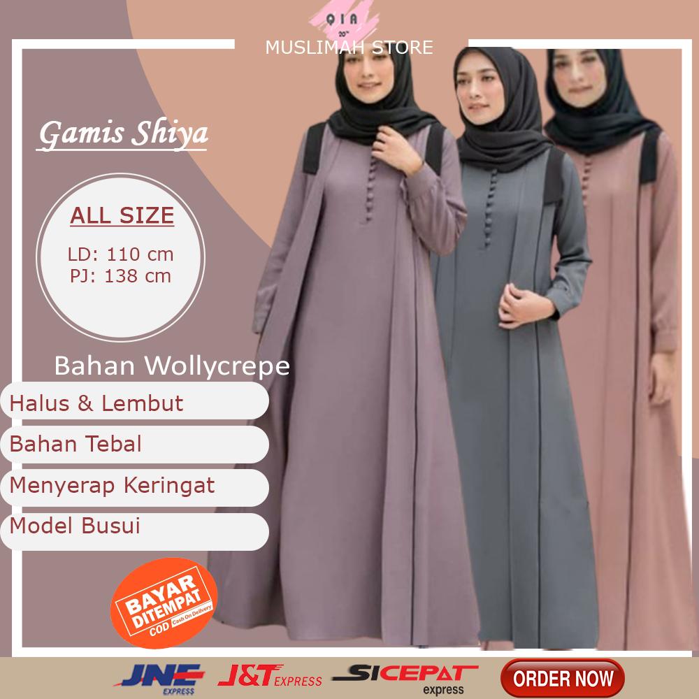 Gamis Syari Murah Baju Gamis Wanita Terbaru Dress Brukat Jumbo Dewasa Remaja Pakaian Wanita Busui Shopee Indonesia
