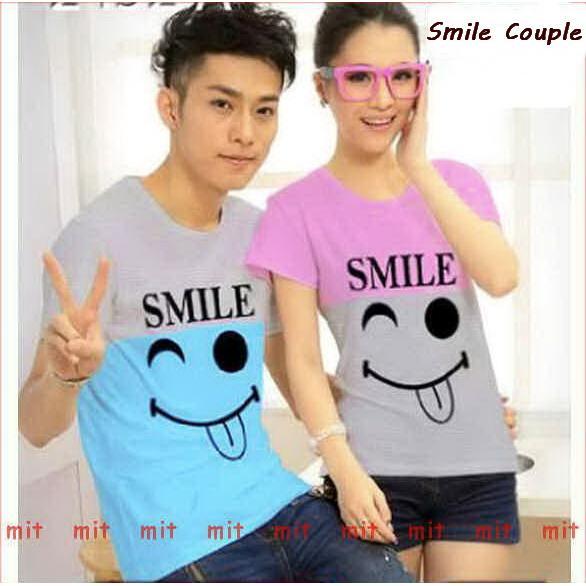 Baju Couple Unik Distributor Kaos Couple Smile Shopee Indonesia