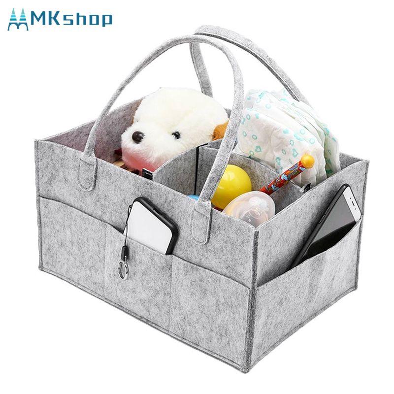 Baby Diaper Wipes Bag Storage Nursery Caddy Bin Infant Nappy Organizer Basket UK