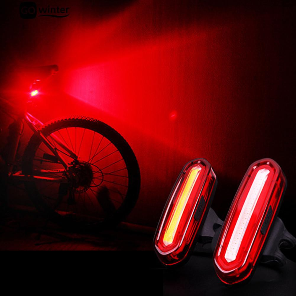 LK❈Waterproof USB Rechargeable Hiking Cycling Bike Bicycle Light Warning Tail Lamp | Shopee Indonesia
