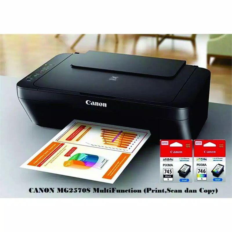Printer Canon Mg2570 3 In 1 Print Scan Copy Shopee Indonesia