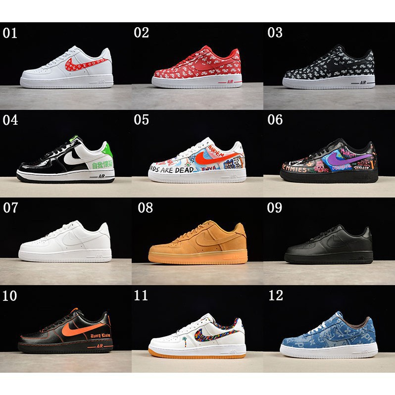 Sepatu Sneakers Desain Nike Air Force Nickname Low Air Force 1