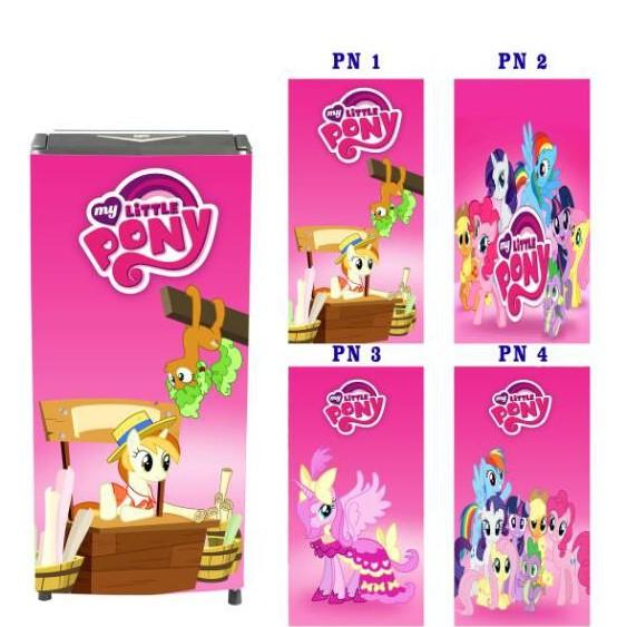Stiker Kulkas 1 Dan 2 Pintu Motif Gambar Kuda Pony Shopee Indonesia