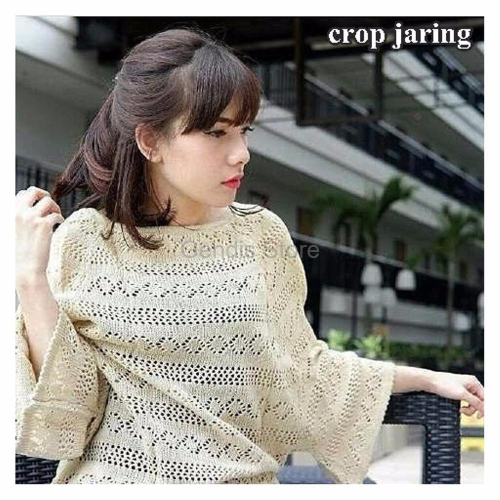 Atasan Crop Jaring Rajut Shopee Indonesia Roundhand Secker Sweater Sj0015