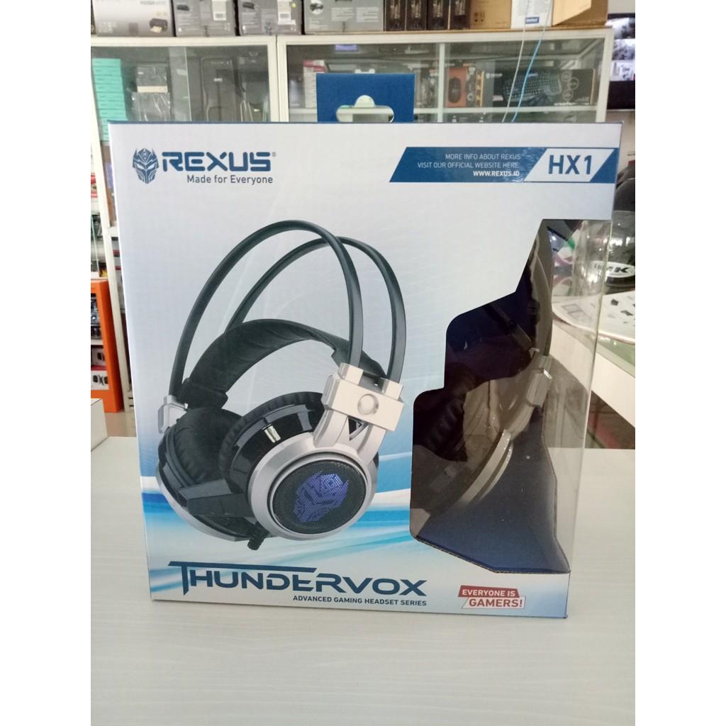 Rexus Hx1 Thundervox Super Bass Gaming Headset Hx 1 Grey Rex Gy Shopee Indonesia