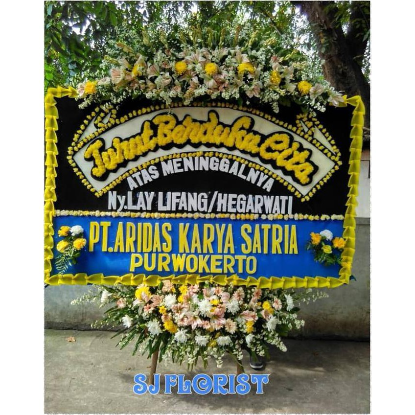 Karangan Bunga Papan Ucapan Duka Cita Shopee Indonesia
