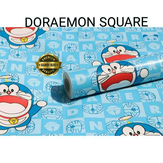 Wallpaper Doraemon Warna Ungu