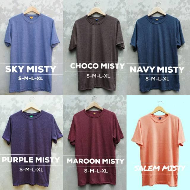 Terbaru Kaos Polos Coklat Misty COTTON COMBED ASLI - Kaos Polos CHOCO MISTY Bandung - Polos Bandung | Shopee Indonesia