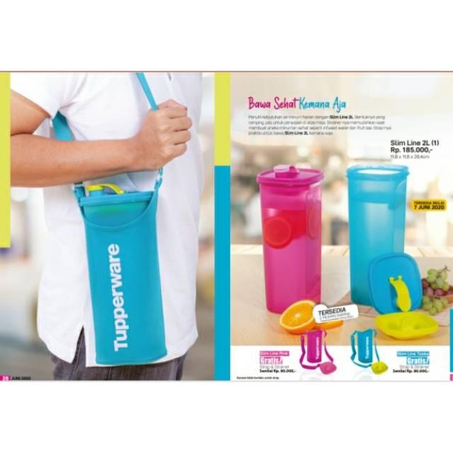 Slim Line 2l Tupperware Botol Minum Tupperware Tempat Minum Anti Tumpah Shopee Indonesia