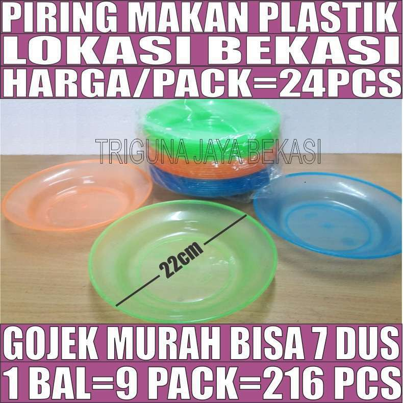Piring Makan Plastik Tebal Besar Transparan Warna Per Pcs Gojek Bekasi