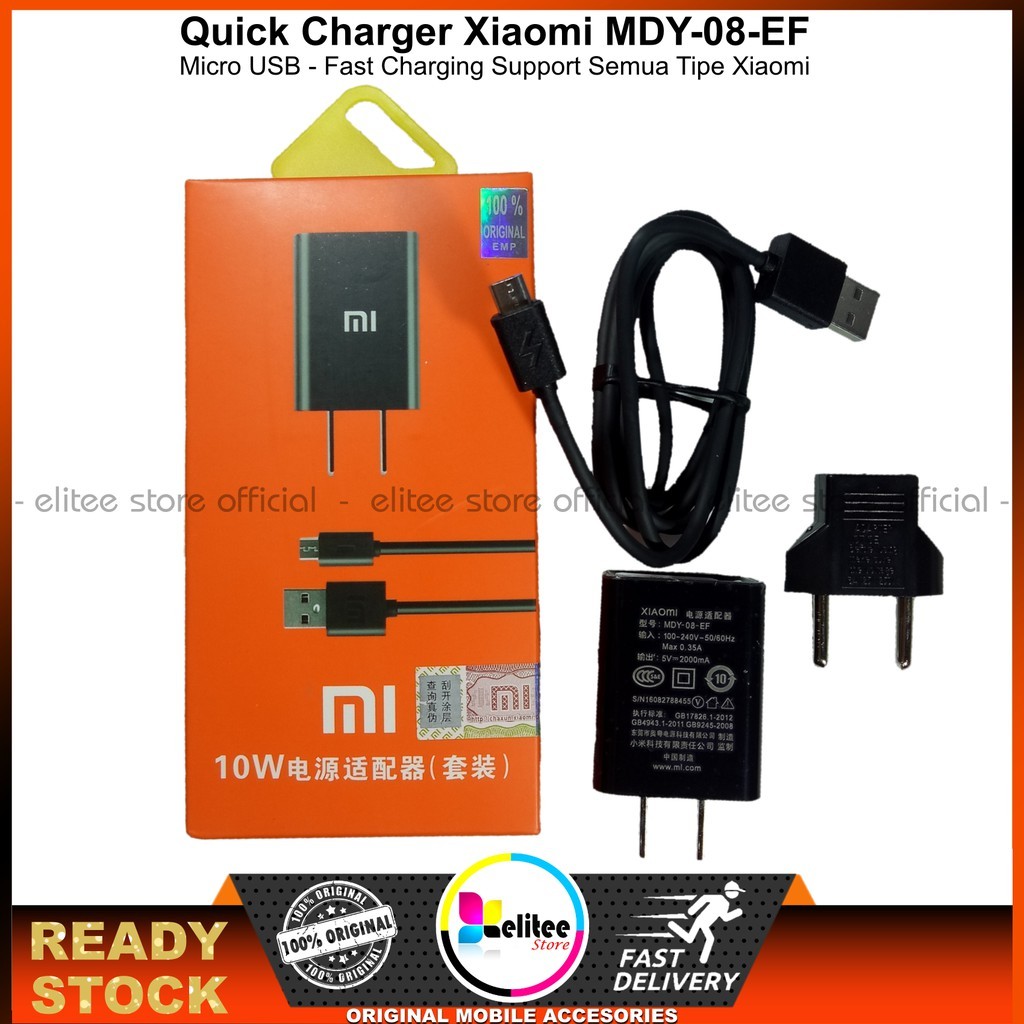 Charger XIAOMI Redmi 2 3 4 3x 3s 4x 4A ORIGINAL MDY 08 EF 2 Ampere | Shopee Indonesia
