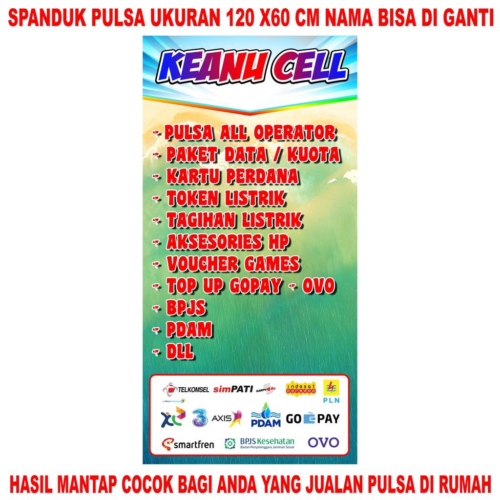 Spanduk / Banner / Backdrop Konter Pulsa Ukuran 60cm X 120cm Bagus   Shopee  Indonesia