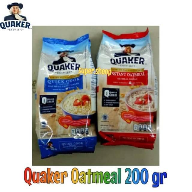 Quaker Oatmeal 200 Gr Oat Sereal Makanan Diet Cemilan Sehat