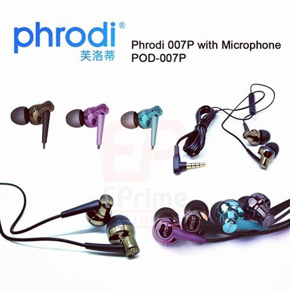 Headset Phrodi 007 Pod Aka Jimbon Shopee Indonesia 007p Earphone With Mic