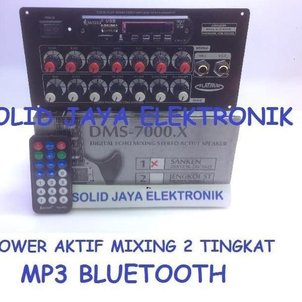 ♛  2.2♛ Flash Sale KIT POWER SPEAKER AKTIF ACTIVE MP3 BLUETOOTH SANKEN DMS-7000 DMS7000 DMS 7000 X .