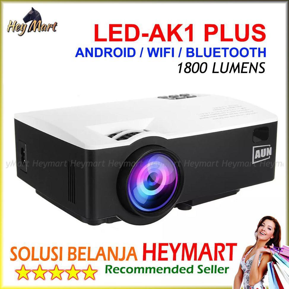 LJP Mini Projector LED-AK1 PLUS Android Infokus 1800 Lumens ...