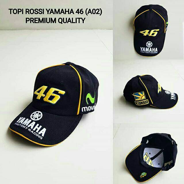 Topi Team Racing Sport Baseball Pria Distro Bordir Casual Ducati Yamaha  Rossi Moto GP 04  c5cffd1b51a1