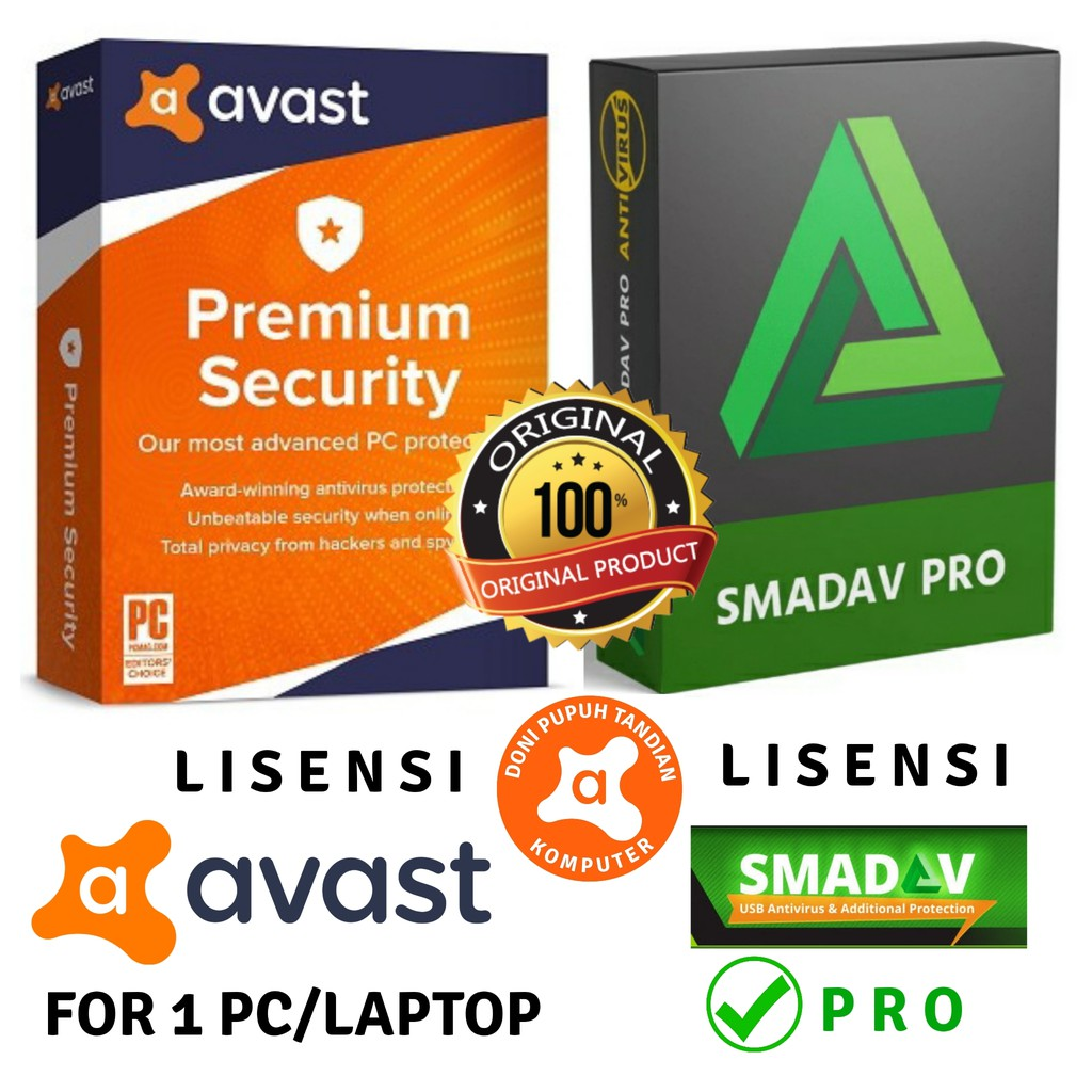 For 1 Pc Avast Premium Security Smadav Pro Lisensi Original 100 Wajib Baca Deskripsi Produk Shopee Indonesia