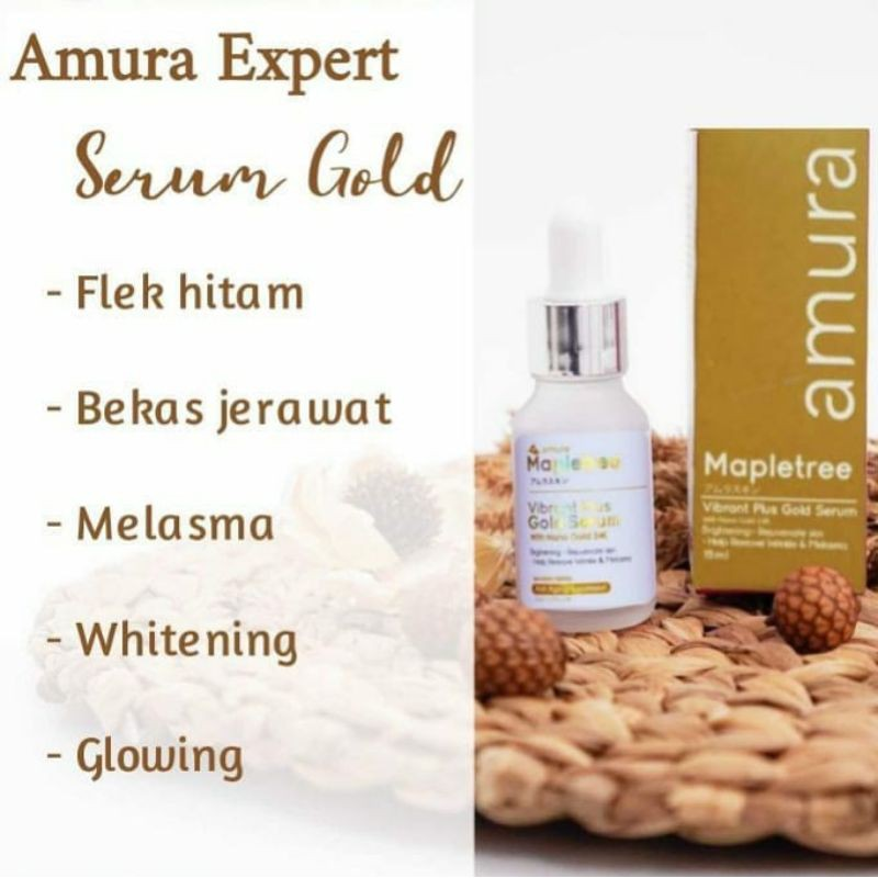 AMURA SERUM GOLD EXPERT ORIGINAL PENGHILANG FLEK HITAM BPOM