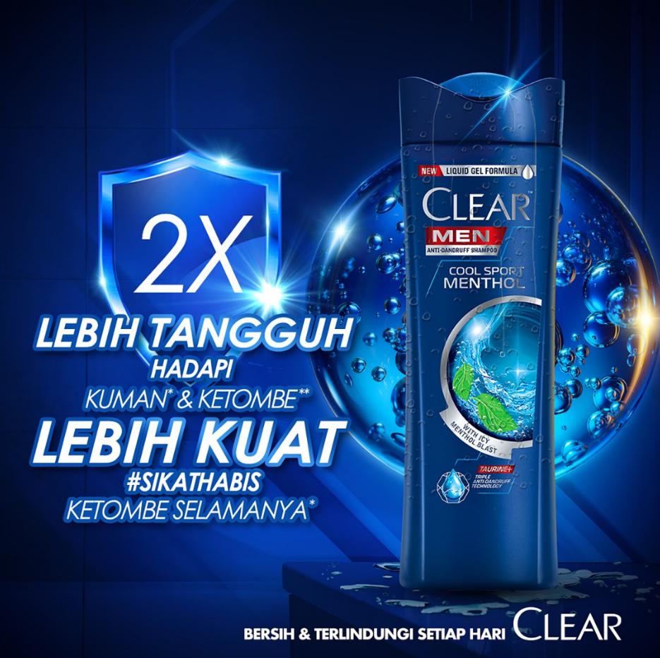 Clear Men Shampoo Cool Sport Menthol 300 Ml - Shampo Pria, Shampo Menthol-2