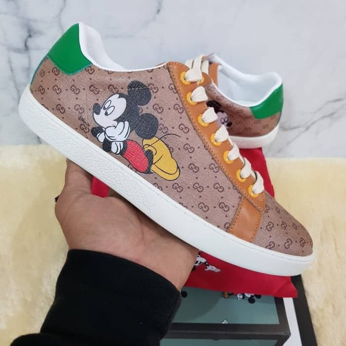 Gucci Ace Gg Sneakers X Disney Mickey Mouse Pk Sepatu Sneakers