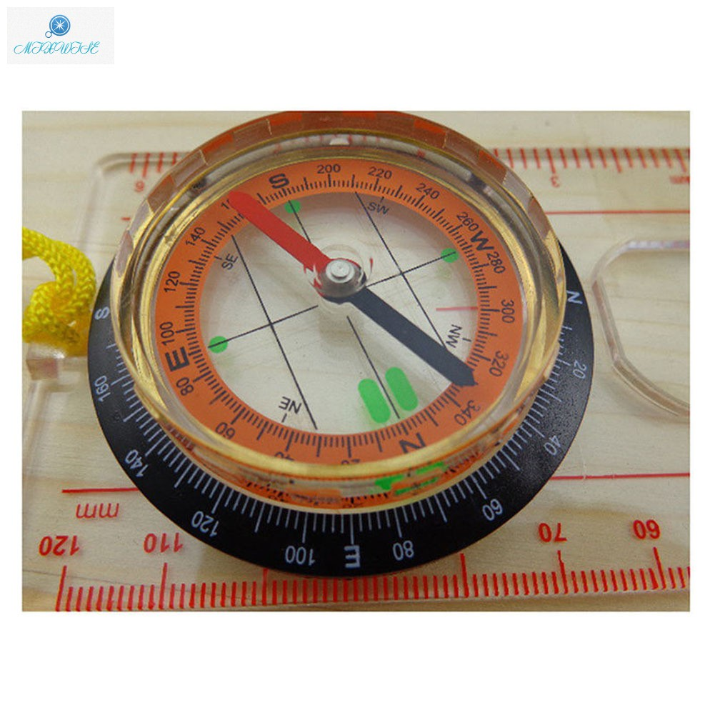 New Compass Magnifying Orienteering Navigation Map Hiking Military Camping Equip