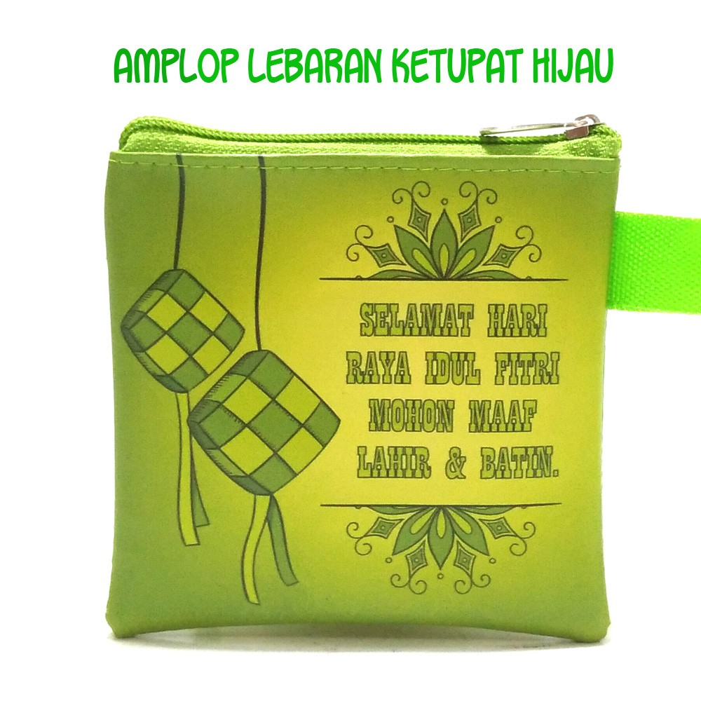 Dompet Lebaran Dua Ketupat Hijau Shopee Indonesia