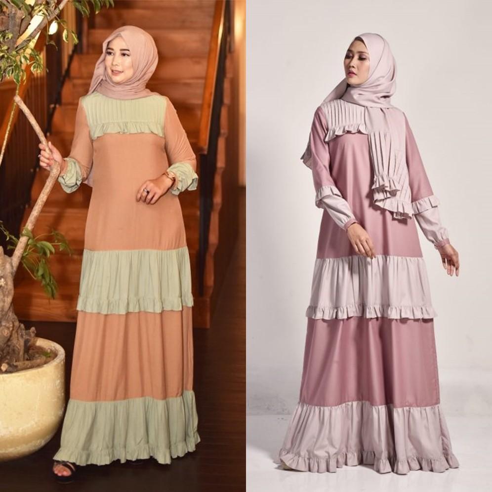 Belia Dress by Zalifa Exclusive Collection - Baju Muslim Wanita - Gamis