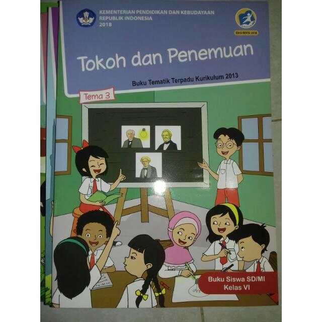 Buku Tematik Kelas 6 Tema 3 Sd Mi Tokoh Dan Penemuan K13 Revisi Terbaru Shopee Indonesia