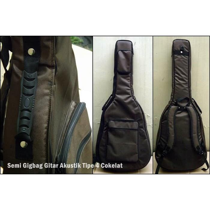 Semi Gigbag Gitar Akustik Tipe 4 Cokelat Murah