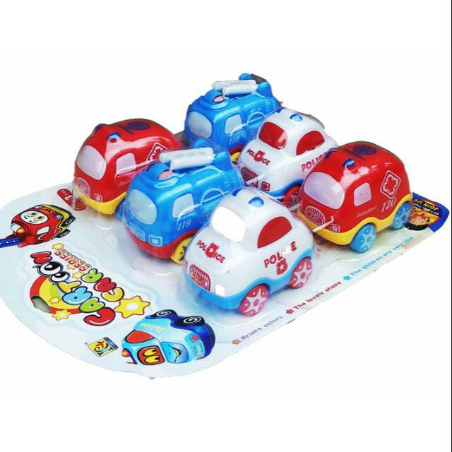Mainan Cartoon Car Series Mobil Cartoon Car Series Mobil Polisi Mobil Ambulance Shopee Indonesia