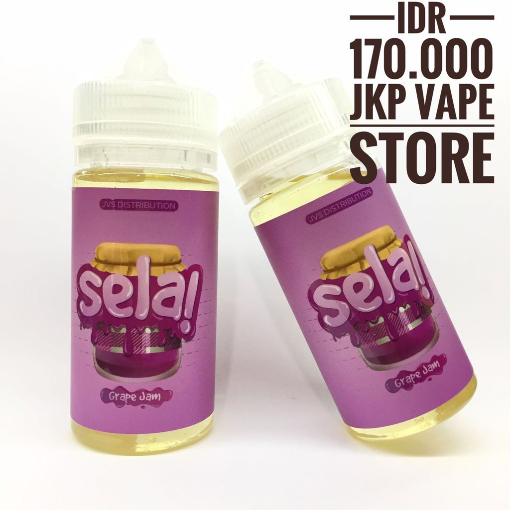 Liquid Selai Blueberry Jam Grape Strawberry By Jvs 100ml 3mg Premium E Vapor Vape Sela Shopee Indonesia