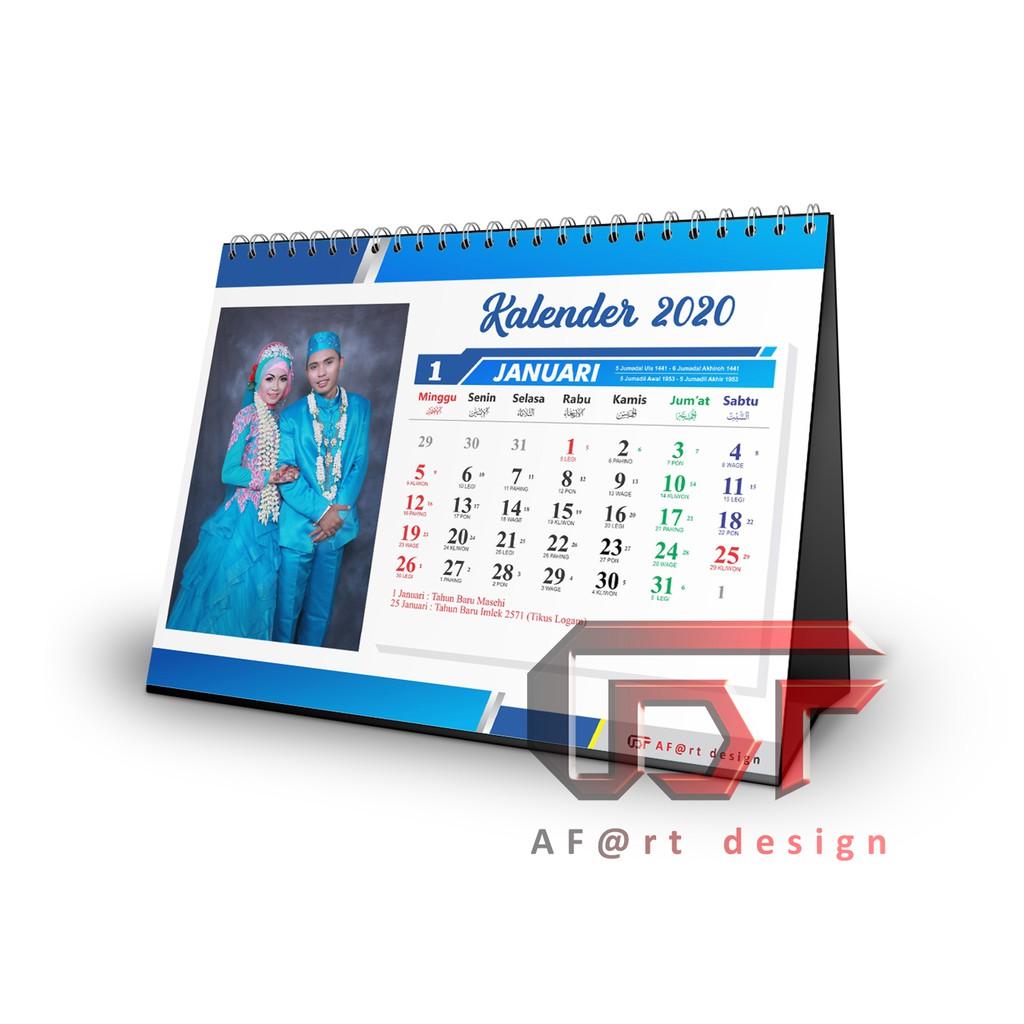 Kalender Meja Kalender Duduk 2020 Custom Free Design ...