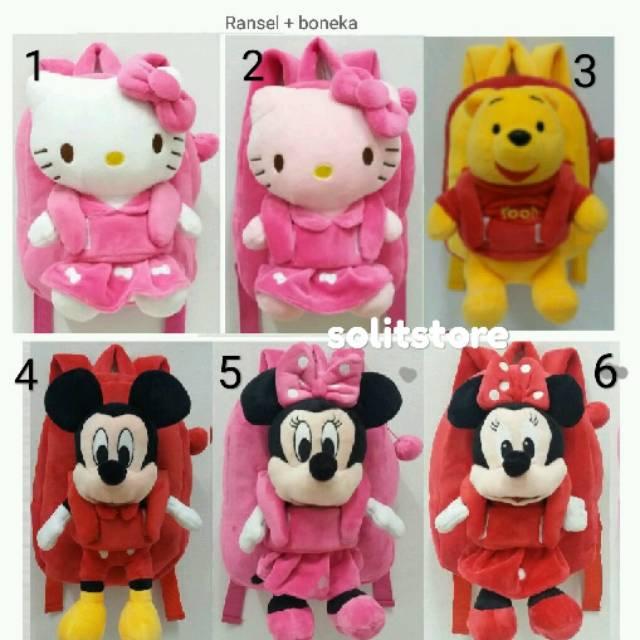 Backpack Import Tas Ransel Anak Karakter Hello Kitty Minnie Mickey Mouse  72c6075416