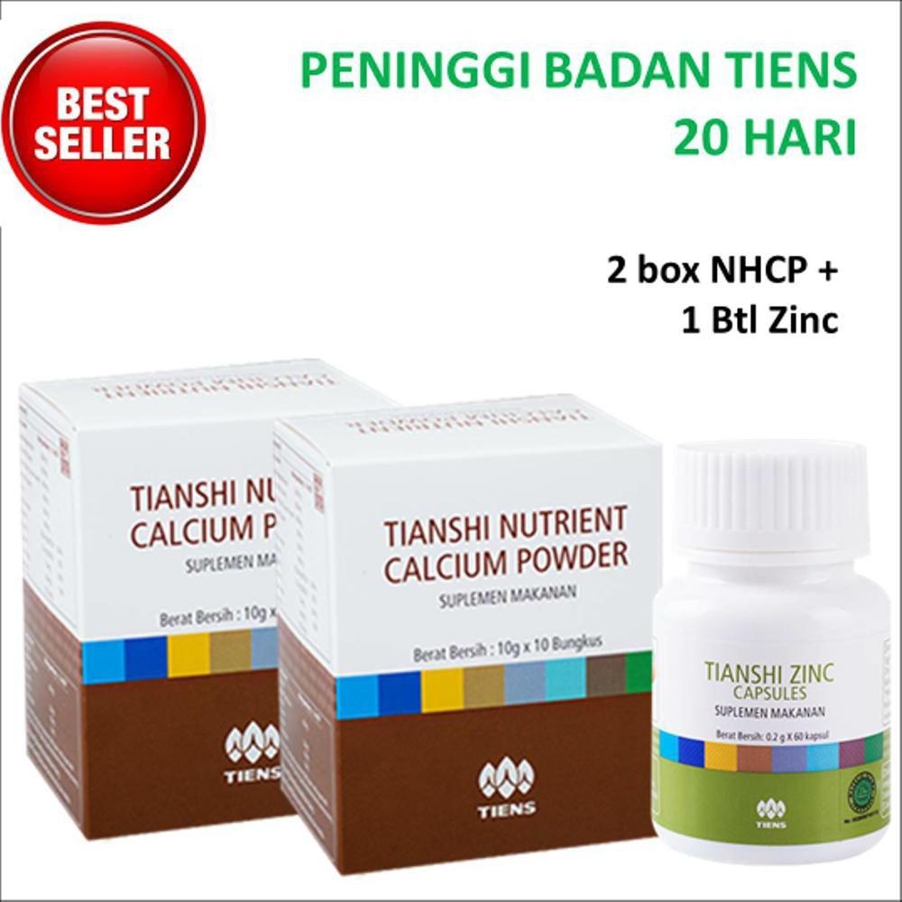 Peninggi Badan Tiens 20 hari 2 Kalsium NHCP + 1 Zinc - Peninggi Tianshi + Panduan