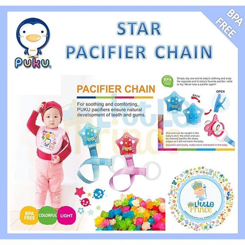 Puku Baby Pacifier Orthodontic Empeng Bayi 0 Bulan Bpa Free Biru Buah Food Fruit Feeder Dot Juice Teether Avent Freeflow