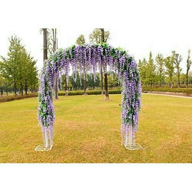 Desain Taman Bunga Gantung  bunga hias dekorasi pelaminan pernikahan artificial daun bunga wisteria artificial palsu sintetis