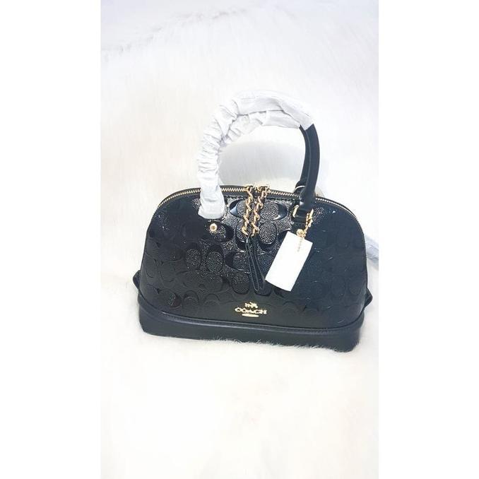 Coach Mini Sierra Debossed Patent Leather 55450