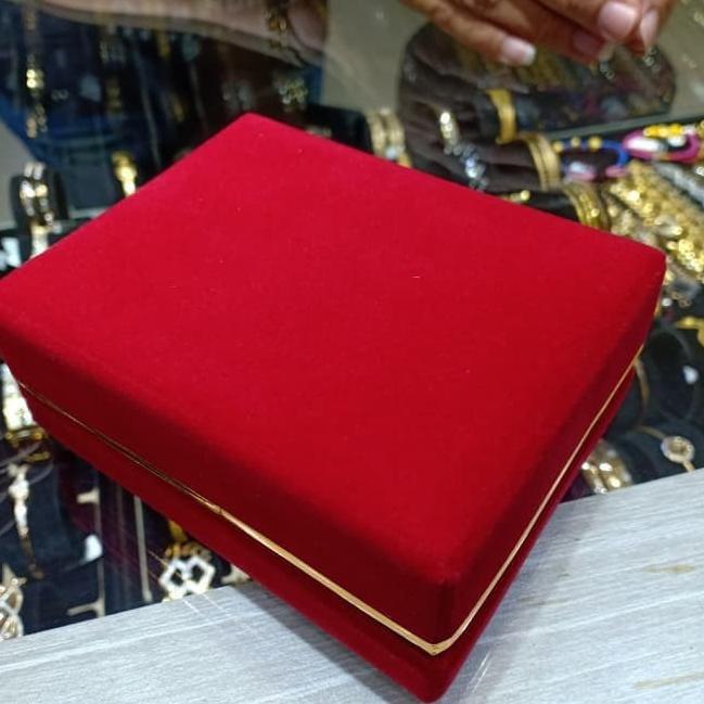 Ready  ̄➼ Kotak Perhiasan Logam Mulia Antam Red Bludru - Merah diskon khusus hari ini