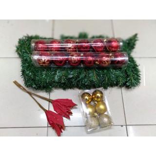 garlan natal paket aksesoris hiasan dekorasi dekor pernak