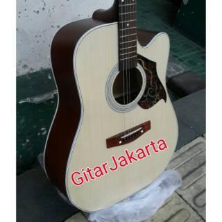 Gitar Akustik Natural Doff Jumbo Trusrod Pemula Murah Jakarta Suka 3