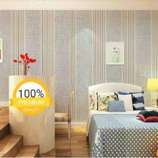 wallpaper dinding ruang tamu rumah kamar tidur murah garis