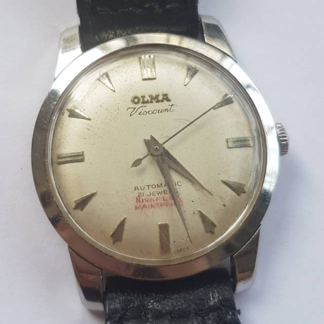 Olma Viscount Automatic 21 JEWELS vintage original antik