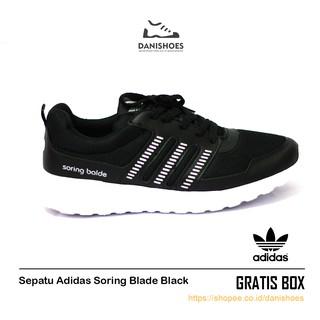 Sepatu nike Sekolah Hitam Cowok Cewek Sneakers Olahraga Pria Wanita ... 67ac660197
